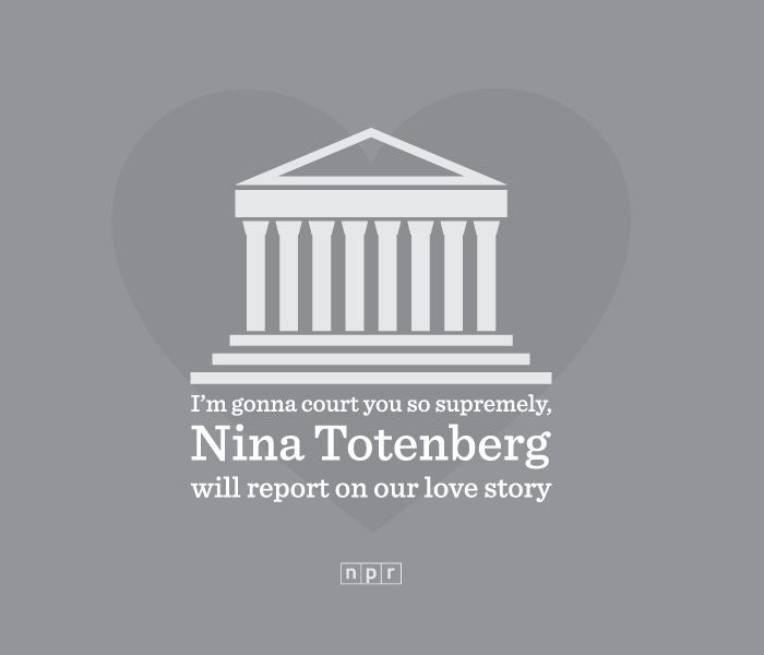 npr valentine im gonna court you so supremely nina totenberg will report on our love story