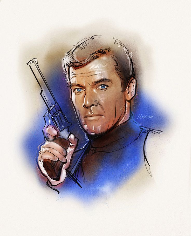Roger Moore as James Bond 007 in Ian Fleming's LIVE AND LET DIE.
