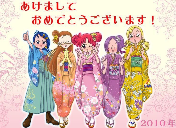 Tags: Fanart, Ojamajo DoReMi, Harukaze Doremi, Senoo Aiko, Fujiwara Hazuki, Segawa Onpu, Asuka Momoko, Pixiv, Pixiv Id 1143969, Happy 2010, ...