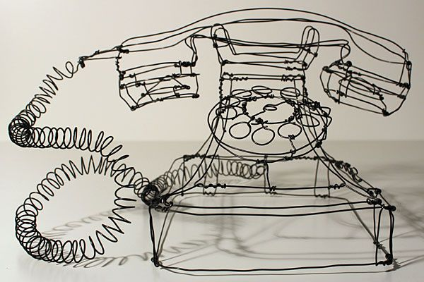 Incríveis esculturas tridimensionais de arame - Metamorfose Digital