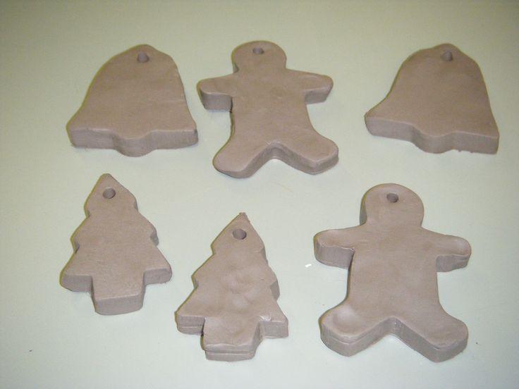 Clay Christmas tree decorations
