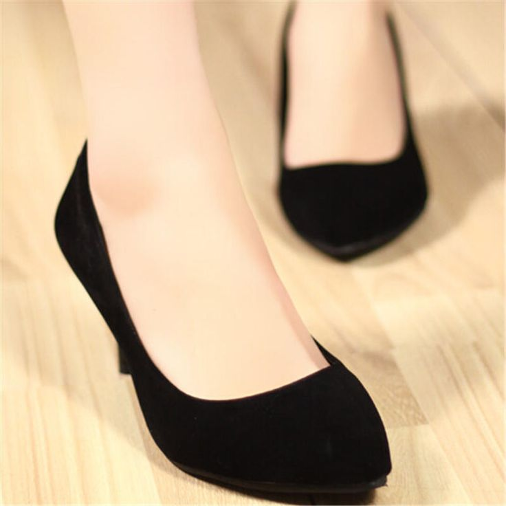 Женская flock обувь ярко-розовый высокие каблуки женские черные туфли на каблуках zapatos mujer tacon красные насосы(China (Mainland))