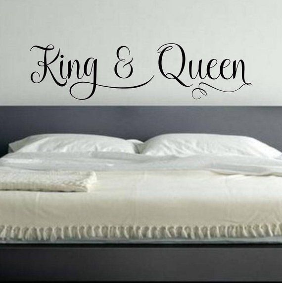 King And Queen Vinyl Wall Decal Vinyl Wall Decals Bedroom