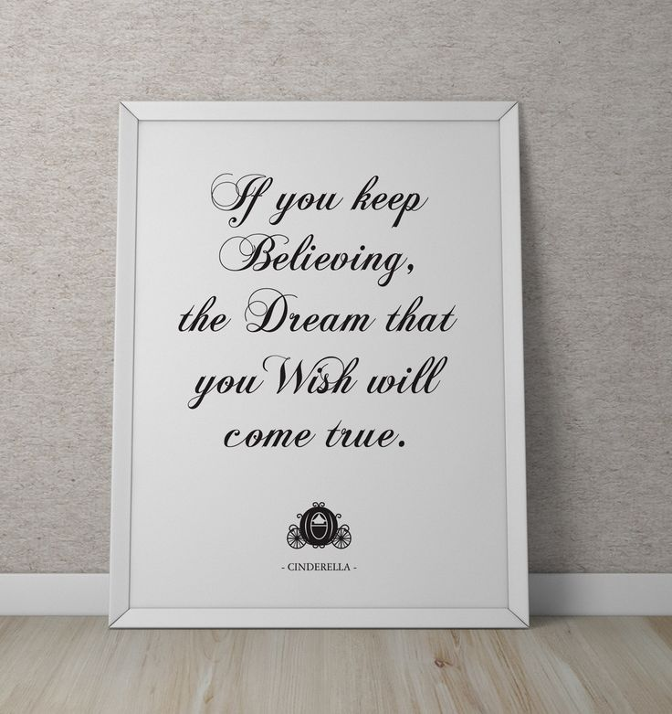 Cinderella's Dream that you Wish Print. Designed by Imagine If Creative Studios. Available for purchase from our Etsy Shop: https://www.etsy.com/listing/278124864/cinderellas-the-dream-that-you-wish?ref=listings_manager_grid
