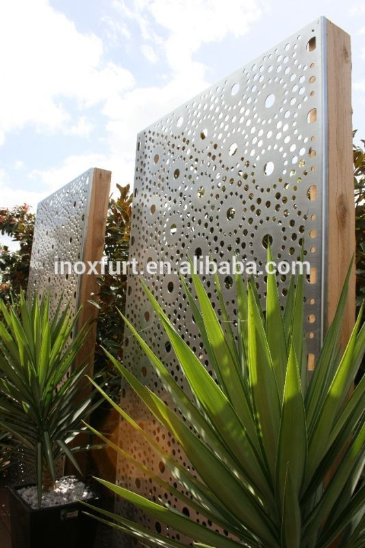 Decorative Wall Panels Outdoor : Exterior decorative perforated metal stainless steel wall