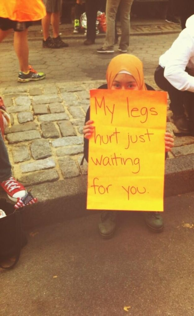 Ugh. Tell me about it.   The 35 Best Signs From The NYC Marathon