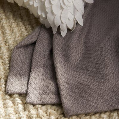 Three Posts Rye Cotton Throw Blanket Size: Full / Queen, Color: Grey