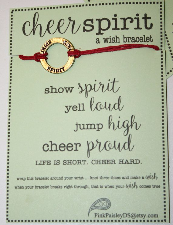 12 Cheer Spirit Wish Bracelets Pick Your Color by PinkPaisleyDS