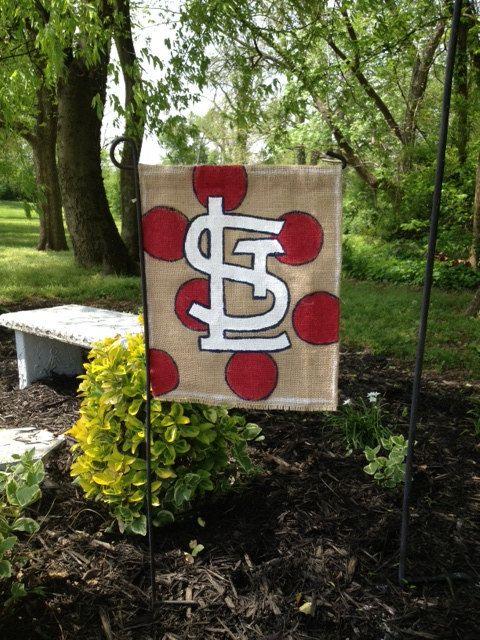 St. Louis Cardinals Burlap Garden Flag on Etsy, $18.00