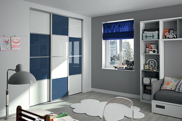 Kazed portes de placard coulissantes karacter 3 verres - Peinture chambre garcon tendance ...