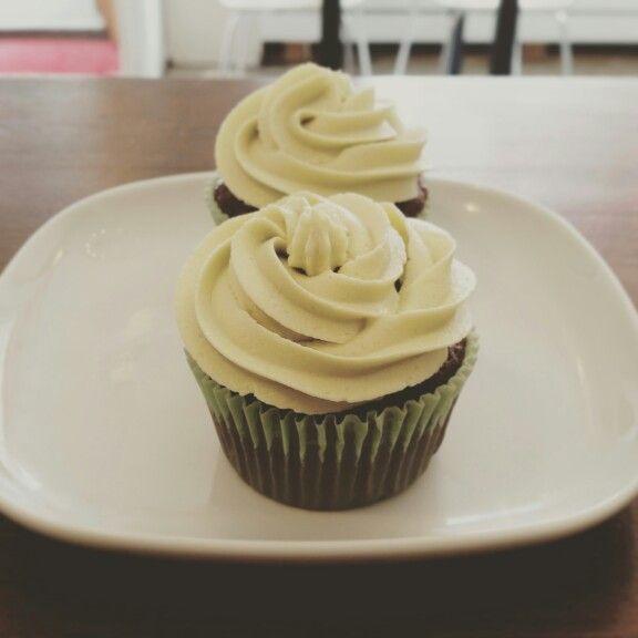 Mint chocolate cupcakes. Vegan.