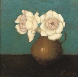 Rozen in vaas van Jan Mankes (Dutch, 1889-1920)