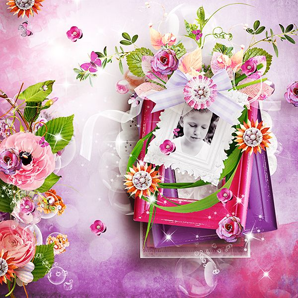 *** NEW ***  Flowery Field by KDesigns  http://www.myscrapartdigital.com/shop/index.php?main_page=product_info=55_id=2193