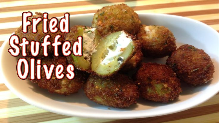 Stuffed Fried Olives | Food & Drinks | Pinterest