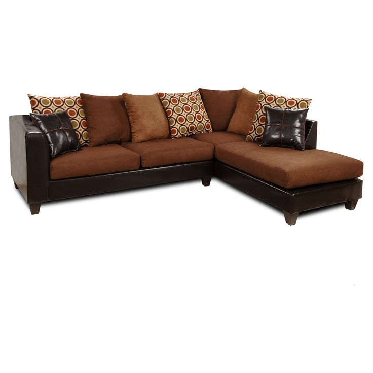 Great Chelsea Home Ashley 2 Piece Sectional   Denver Mocha / Victory Chocolate /  San Francisco Kiwi