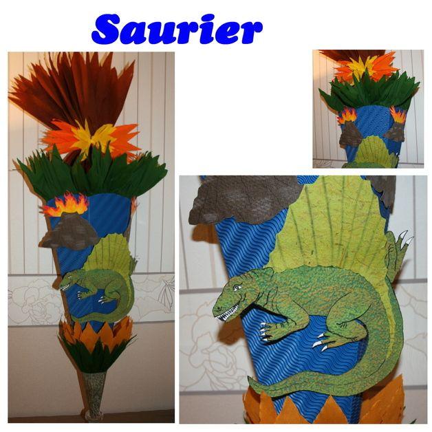 Schultüten - Schultüte Dino-Saurier - ein Designerstück von die-schultuete bei DaWanda