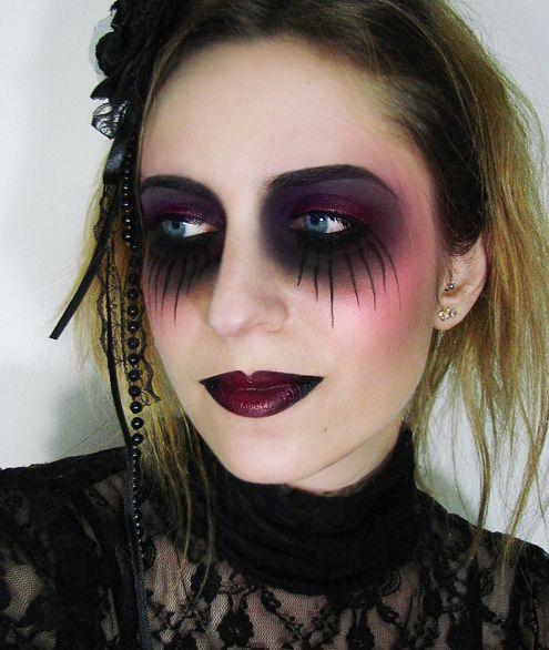 goth halloween makeup tutorial