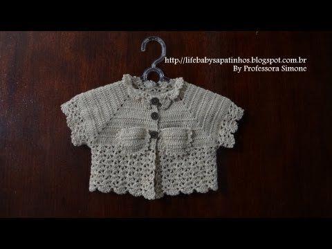 Passo a passo Casaquinho em Crochê para Bebê - Parte-1 - YouTube