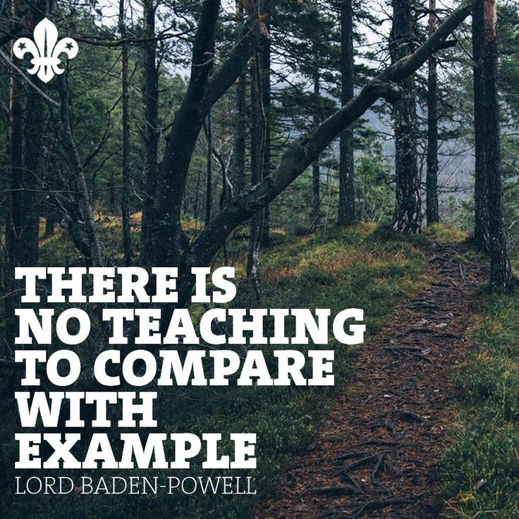 """""""There is no teaching to compare with example"""""""