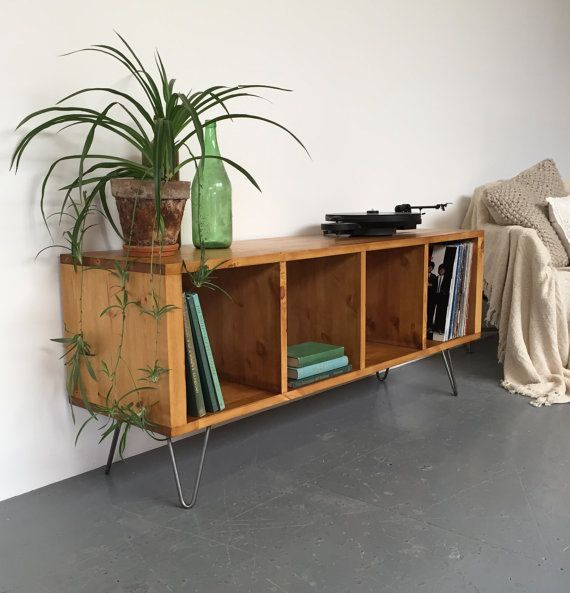 Sonor Turntable / LP / Vinyl Cabinet / Sideboard Mid-Century