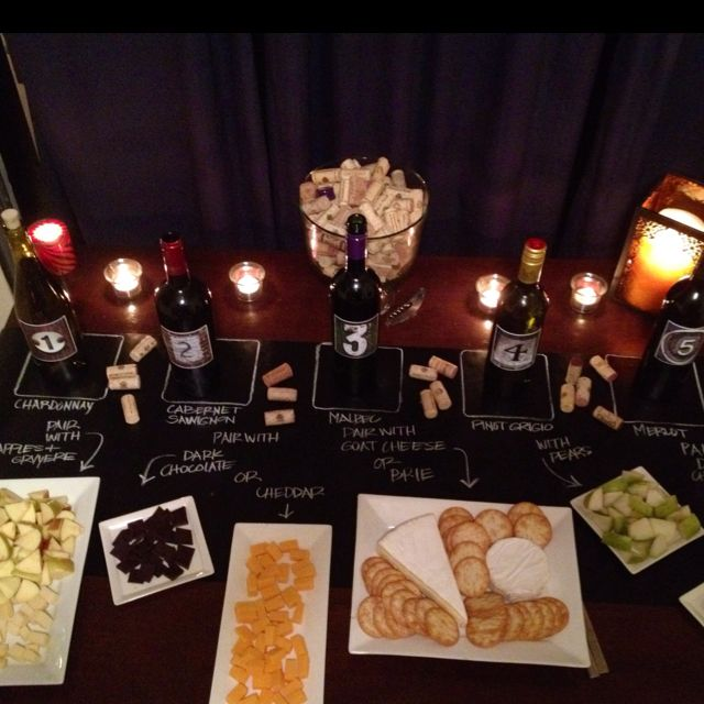 Wine tasting party... LOVE THIS IDEA!!  Great party idea around the holidays.