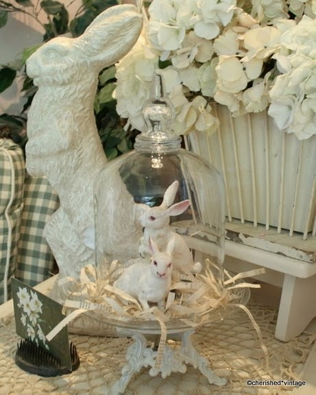 One can never have enough bunnies: Books Pages, Decor Ideas, White Bunnies, Glasses, Easter Bunnies, Easter Spr, Easter Decor, Colors Palettes, White Rabbit