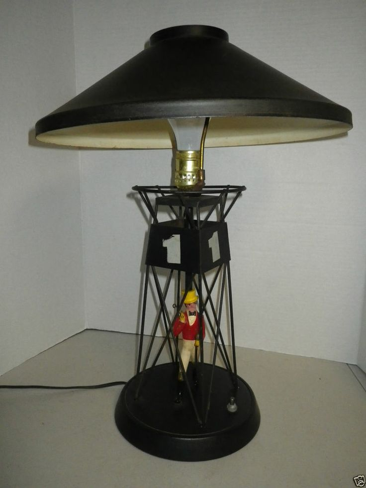Vintage Johnnie Walker Figural Table Lamp Red Label Black