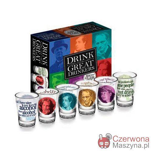 6 Kieliszków do wódki TUPG Great Drinkers 60 ml - CzerwonaMaszyna.pl