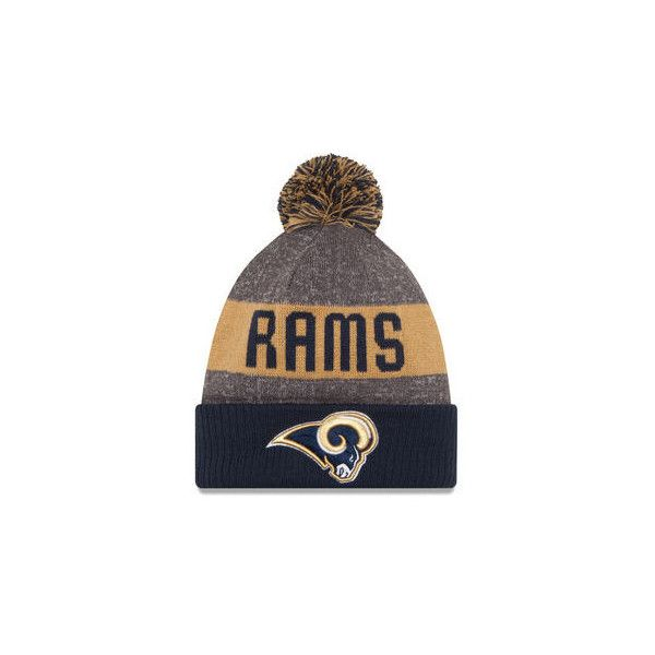 Los Angeles Rams Hats, Rams Sideline Caps, Custom Hats at NFLShop.com ($25) ❤ liked on Polyvore featuring accessories, hats, nfl caps, nfl logo hat, nfl knit caps, logo cap and nfl hats