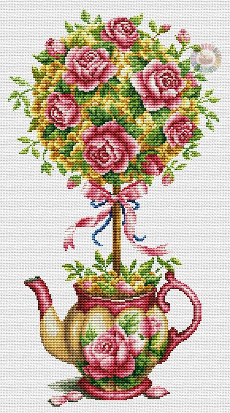 Roses in a teapot 8