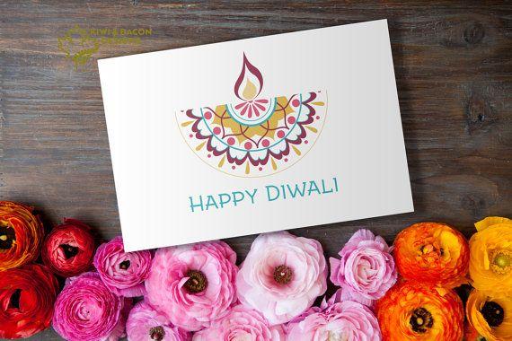 Diwali Card Greeting Printable - Diya Mandala