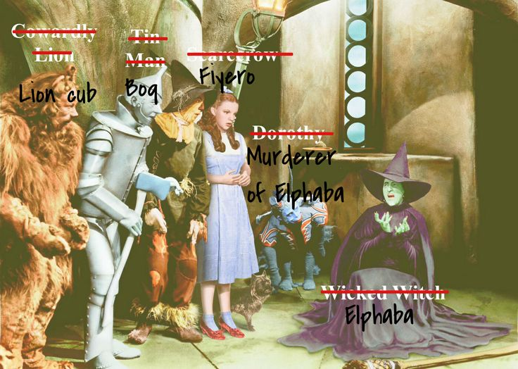 This is how I see the Wizard of Oz now