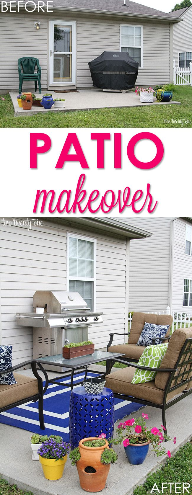 Backyard patio ideas for small spaces - Love This Small Patio Makeover