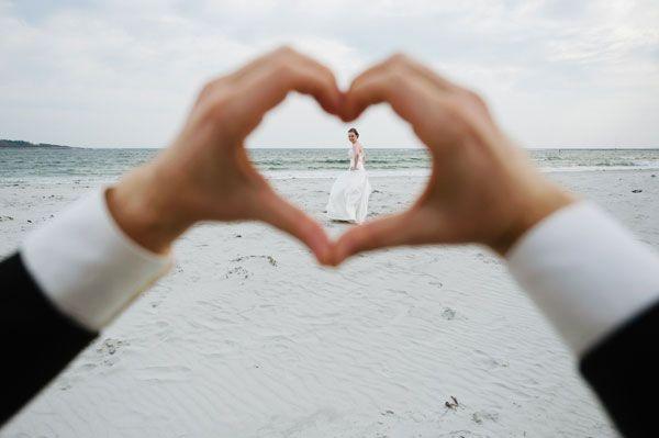 bride in a heart