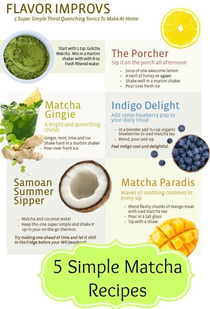 meet your matcha recipes
