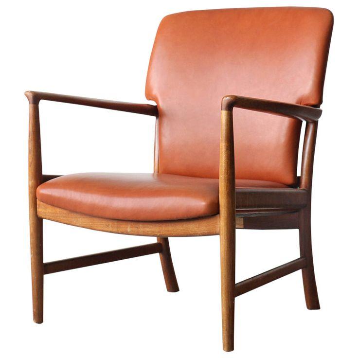 Rare Jacob Kjær Danish Modern Cherry Easy Chair