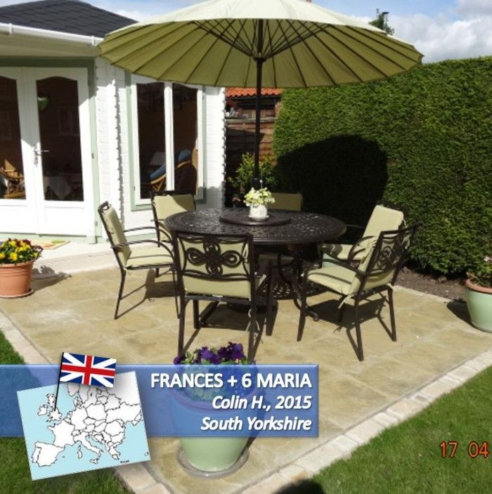 Discover the gorgeous Frances Round 6 Seater Metal Garden Furniture Set  from Lazy Susan  metal garden furniture experts since. 32 best Garden furniture images on Pinterest   Dining sets  Garden
