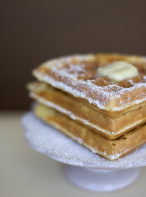 Sour Cream Waffle  I think this is what my Mom and Dad used to make.