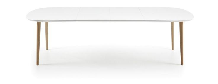 OAKLAND Uitschuifbare Tafel Ovaal Wit - LaForma
