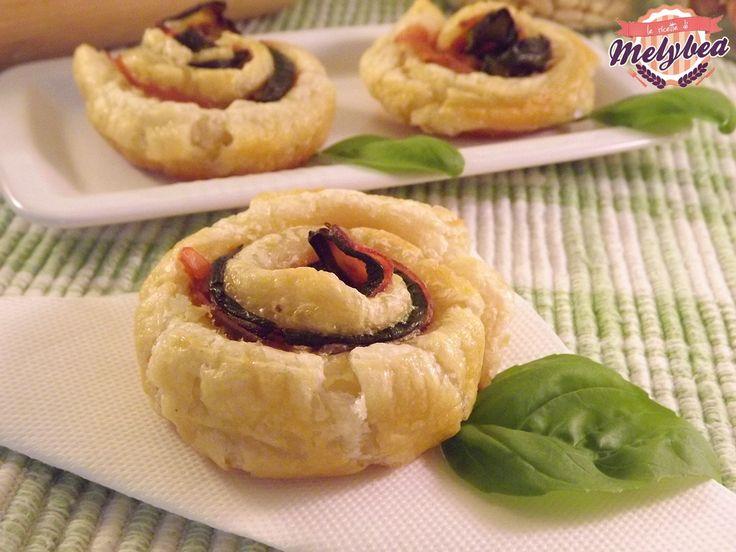#Rose di #sfoglia con #zucchine e #prosciutto #ricetta #fingerfood #bloggz