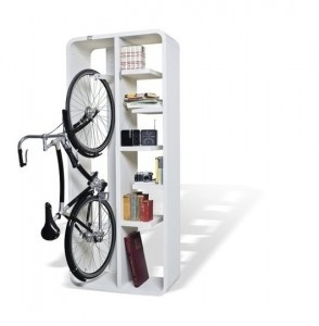 Bike/Book shelfIdeas, Bicycles, Bikes Storage, Bikes Racks, Shelves, Bookbik, Bookcas, Byografia, Design