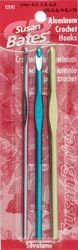 Silvalume Aluminum Crochet Hook Set Sizes G, H, J