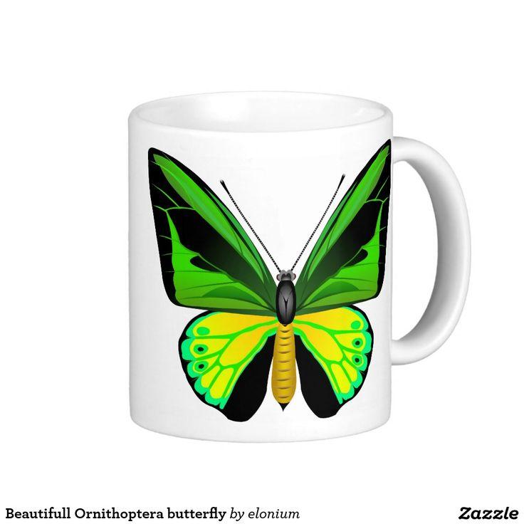 Beautifull Ornithoptera butterfly Coffee Mug