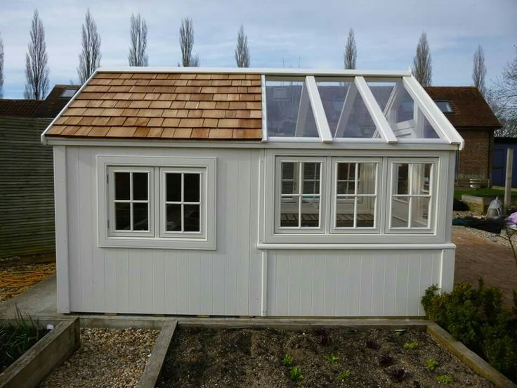Pin by chantal snow some are home on how does my garden for Shed office combo