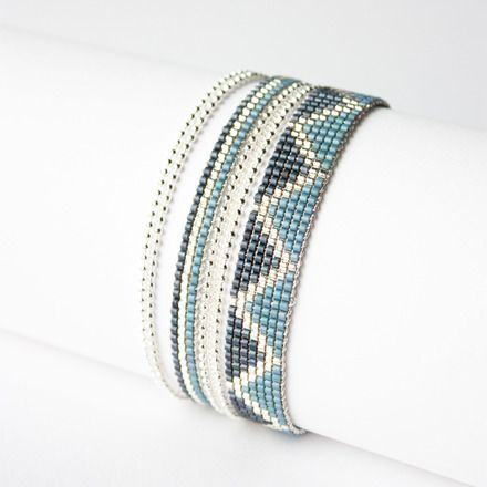 Bracelet 100% fait main ! MADE IN FRANCE   ( FAIT SUR COMMANDE )  DESCRIPTION : Bracelet tissé perles miyuki delicas  Longueur du tissage : 16 cm  ( PERSONNALISABLE ) Large - 13833753