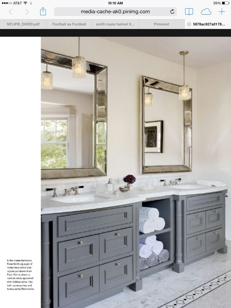 25 best ideas about bathroom mirrors on pinterest decorative bathroom mirrors framed - Double vanity bathroom mirror ideas ...