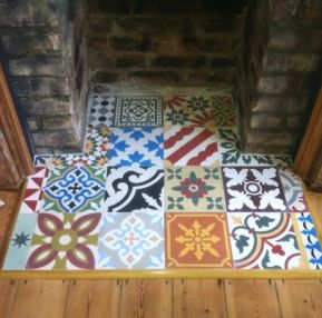 Encaustic Tiles Fireplace