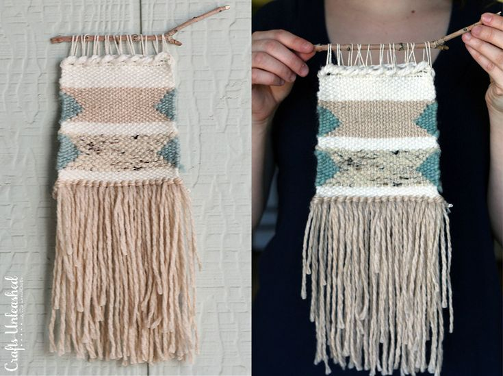 Here's a very simple, VERY inexpensive way to get started on your first weaving with this DIY woven wall hanging. Follow along for the full tutorial!