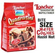 Buy Loaker Quadrini Napolitaner Bite Size Wafer Cookies Hazel Nut 125G For Only P110! Experience online shopping at its best here at Goods.ph! Shop now!