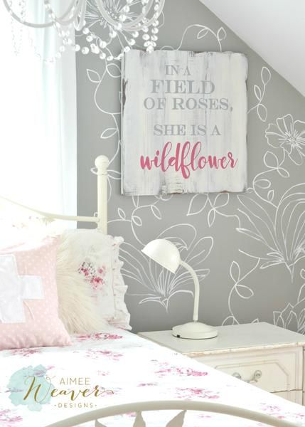 """""""She is a wildflower"""" Wood Sign {customizable} by Aimee Weaver Designs"""
